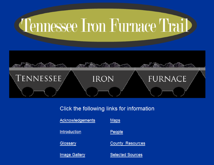 Tennessee Iron Furnace Trail Website