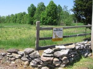 Century Farm sign in Billingsley Farm in Jackson County