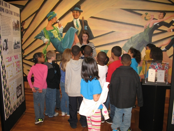 Children visiting the Heritage Center