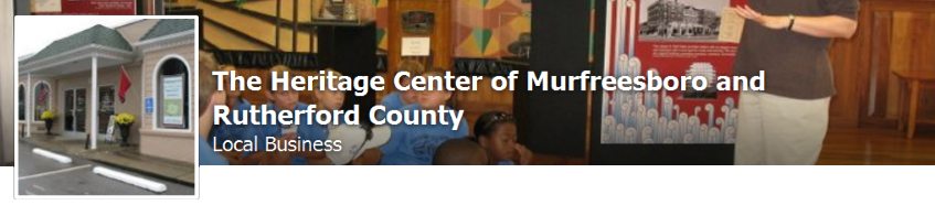 The Heritage Center of Murfreesboro and Rutherford County on Facebook