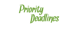 Priority Deadlines for Student Assistance Applications