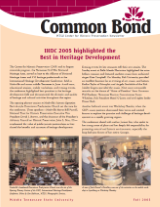 Common Bond newsletter fall 2005 edition