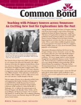 Common Bond newsletter fall 2008 edition
