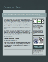 Common Bond newsletter fall 2013 edition