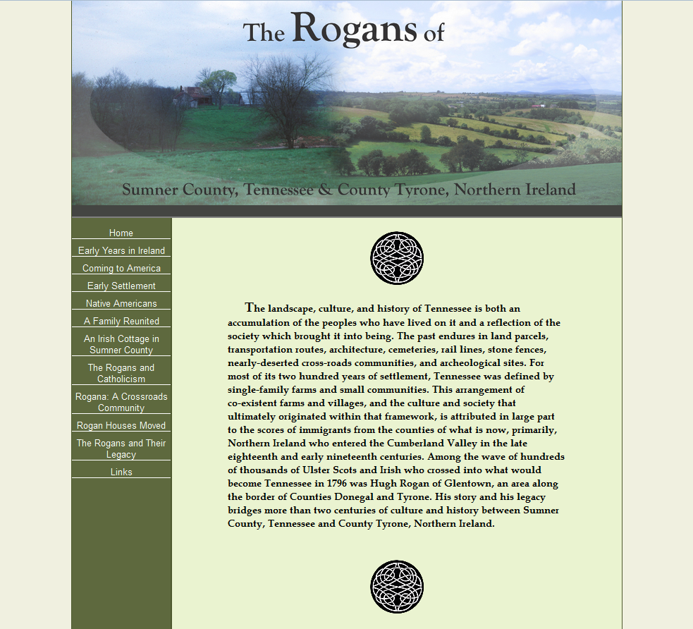 The Rogans of Sumner County website