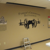 Parker's Crossroads Battlefield exhibit preparations