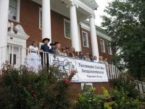 Children participating in Civil War Sesquicentennial event in Cookeville, TN