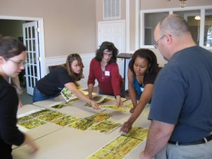 Teaching with Primary Sources puzzle map activity