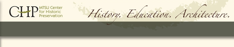 Previous Center for Historic Preservation Website Masthead