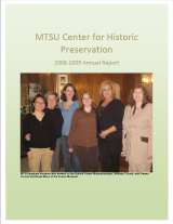 Center for Historic Preservation Annual Report 2008-2009
