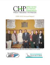 Center for Historic Preservation Annual Report 2009-2010
