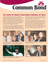 Common Bond newsletter fall 2004 edition